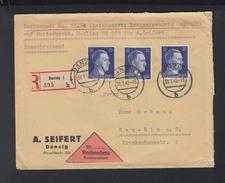 Dt. Reich Nachnahmebrief Danzig 1943 - Briefe U. Dokumente