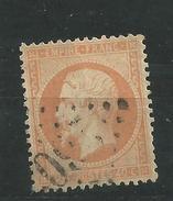 N° 23 Napoléon III Légende Empire Franc  40corange  Oblitéré Cachet étoile Dentelé Année 1862 - 1862 Napoleon III