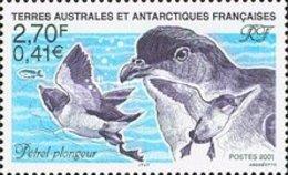 MDB-BK8-288+287-2 MINT PF/MNH ¤ AUSTRALES ANTARCTIQUES 2001 2002 2X1w ¤ BIRDS OISEAUX BIRDS AVES VOGELS VÖGEL