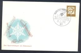 Germany Deutschland 1962 Cover; Bog Sleigh World Championship; XIII Int. Wintersportwoche; Bob Weltmeisterschaften