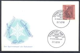 Germany Deutschland 1962 Cover; Eiskunstlauf; Speed Skatin; Deutsche Meisterschaften In Eiskunstlauf Frankfurt