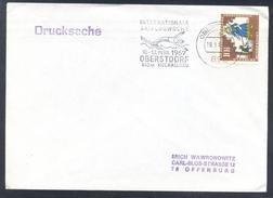 Germany Deutschland 1967 Cover; Ski Jumping Skispringen; Flying; Internationale Skiflugwoche Obersdort Slogan Cancel