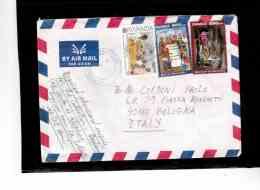 TEM8845   /   RWANDA  POSTAL HISTORY   /      AIR MAIL    LETTER TO ITALY    DTD   6.1.2002 - 1990-99: Oblitérés