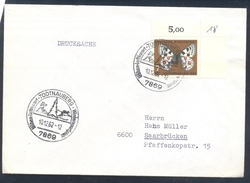 Germany Deutschland 1962 Cover; Winter Sport; Trees; Todtnauberg; Alpine Skiing Wintersportplatz Butterfly Schmetterling