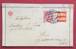 CORRESPONDENZ  KARTE BIGLIETTO POSTALE PROVVISORIO  POSTALE AUSTRIA 10 H. DA WIEM 49 PER CITTA' IN DATA 11/12/1907 - Repubblica Ceca