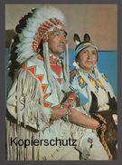 POSTKARTE CREE INDIANER HÄUPTLING BÄREN KIND MIT SQUAW Indian Indians Indien Cpa AK Postcard Ansichtskarte - Indiani Dell'America Del Nord