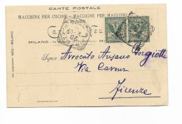 Francobolli 5 Centesimi Aquila Sabauda Su Carta Postale - 1900-44 Victor Emmanuel III