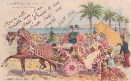 Carte 1900 Précurseur  / CARNAVAL DE NICE / BELLE ILLUSTRATION - Carnival