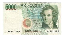 5000 LIRE BELLINI SERIE SOSTITUTIVA XC 1992 BB/SPL Raro NON TRATTATO LOTTO 1490 - [ 2] 1946-… : Républic