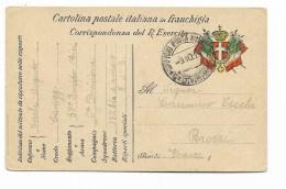 CART. POSTALE IN FRANCHIGIA  - DA ZONA DI GUERRA A FIRENZE 1916 - Guerra 1914-18