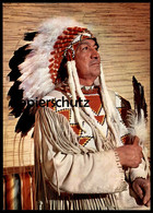 POSTKARTE CREE INDIANER HÄUPTLING BÄREN KIND Indian Indians Indien Cpa AK Postcard Ansichtskarte - Indianer