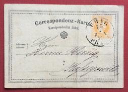 CORRESPONDENZ  KARTE BIGLIETTO POSTALE AUSTRIA 2kr. DA WIEM 49 In Data 27/6/1872 - Repubblica Ceca