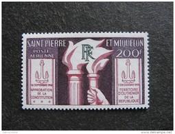 Saint Pierre Et Miquelon: TB PA N°26, Neuf XX. Cote = 19 Euros. - Poste Aérienne