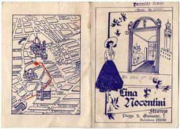 VP7951 - Document Publicitaire - Lina MOCENTINI à FIRENZE ( FLORENCE ) Italie - Italie