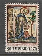 TIMBRE NEUF DE SAINT-MARIN - XIIIE CONGRES INTERNATIONAL DE STOMATOLOGIE : SAINTE APOLLINE N° Y&T 981