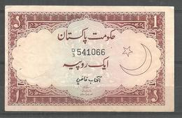 PAKISTAN USED OLD BANKNOTE RS 1 - Pakistan