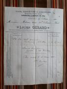 Facture PETITVOIR VINS GENIEVRE LIQUEURS CIGARES... Lucien GERARD - Luxembourg