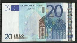 20 EURO BELGIQUE T001 A3 Z42702586164 CIRCULATED DUISENBERG - EURO