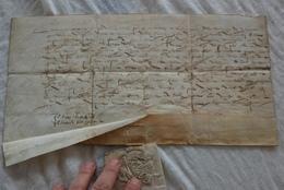 Manuscrit De 1587 Avec Sceau A La Fleur De Lys - Manuscrits