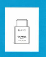 Cartes Parfumées Carte ÉGOÏSTE  De CHANEL - Cartes Parfumées