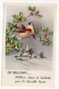 BELFORT--1959--fantaisie-illustrateur ???--De Belfort...Meilleurs Voeux Et Souhaits...(oiseaux,Paysage De Neige) - Belfort - Ville