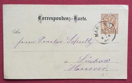 REPUBBLICA CECA CORRESPONDENZ  KARTE BIGLIETTO POSTALE  AUSTRIA 2kr. DA MARIENBAD IN DATA 28/5/1886 - Repubblica Ceca