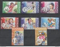 BOTSWANA, 2016, MNH, 50 YEARS OF PROGRESS,EDUCATION ,HEALTH, POLICE, SPORTS, WATER, GENDER EQUALITY,8v