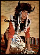POSTKARTE OJIBA INDIANER BÜFFELKOPF VON DEN NIAGARA-FÄLLEN Indian Indians Indien Cpa AK Postcard Ansichtskarte - Indianer