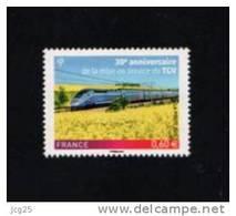 --FRANCE 2011-Un Timbre** (1)   YT 4592** Gommé 30° Anniversaire De La Mise Service Du TGV 0.60€ - Francia