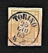 ITALIA 1862 - Cifra In Rilievo In Riquadro Tipografico - 2 C. Bistro - Sassone 10 - 1861-78 Vittorio Emanuele II