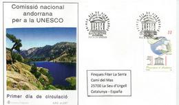 ANDORRE à L'UNESCO, Lettre FDC  Andorra La Vella, Adressée En España