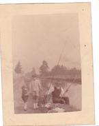 26021 Photo   Belgique - Enfant Peche Canal -pas De Date (1920 ? )