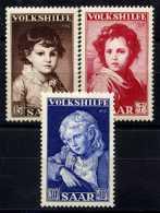 Sarre (1952) N 316 AÌ€ 318 * (charniere) - Neufs