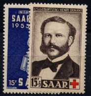 Sarre (1953) N 319 AÌ€ 320 * (charniere) - Neufs
