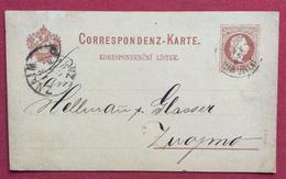 REPUBBLICA CECA CORRESPONDENZ  KARTE BIGLIETTO POSTALE  AUSTRIA 2kr. CON JELENÍ + ZNAIM  ZNOJMO IN DATA 11/5/1882 - Repubblica Ceca