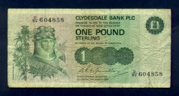 Banconota Scotland 1 Pound 1982 Circolata - Scozia