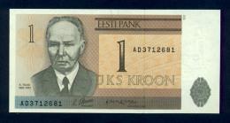 Banconota Estonia 1 Kroon 1992 -FDS - Estonia