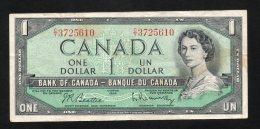 Banconota Canada 1 Dollar 1954 Circolato - Canada