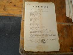 Certificat  Reise Pass Passport Temerin 1855 - Documenti Storici