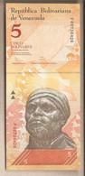 Venezuela - Banconota Non Circolata FdS Da 5 Bolivares - 2011 - Venezuela