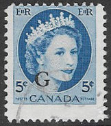 Canada SG O205 1955 Official 5c Good/fine Used [27/23588/2D]