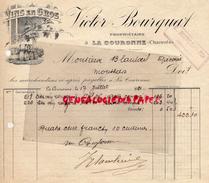 16 - LA COURONNE - FACTURE VICTOR BOURQUAT - PROPRIETAIRE - MARCHAND DE VINS- 1921 - France