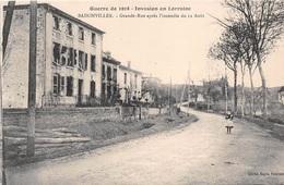 54 - Badonviller - Grande-Rue Après L'incendie Du 12 Août - Guerre De 1914 - Autres Communes