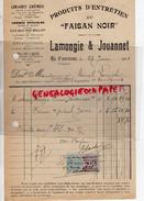 16 - LA COURONNE - FACTURE LAMONGIE & JOUANNET- PRODUITS ENTRETIEN DU FAISAN NOIR - CIRAGE ENCAUSTIQUE- 1921 - France