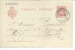 Entier Postal 10c Tarjeta Postal
