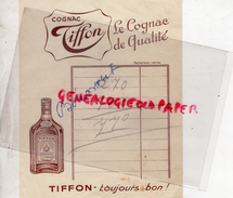 16 - COGNAC - TIFFON  NOTE PUBLICITE - France