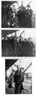 """Foto/Photo. Paquebot """"SS Léopoldville"""". 22 Nov 1935.  Scènes De Pont De Bateau. Lot De 3 Photos. - Bateaux"""