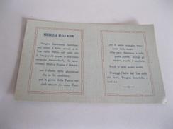 LORETO ( Ancona) Basilica Lauretana Campo Avieri ( Luigi Ottavi ) Biglietto In  Cartoncino PREGHIERA Del 1928 - Aviation
