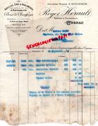 16 - COGNAC - FACTURE ROGER HERAULT - MAISON A. GOUGNON- HOUILLES COKE - ANTHRACITE BOIS CHAUFFAGE-3 RUE PONT NEUF- 1938 - France