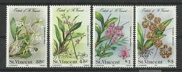ST.VINCENT  1985  FLOWERS  SET   MNH